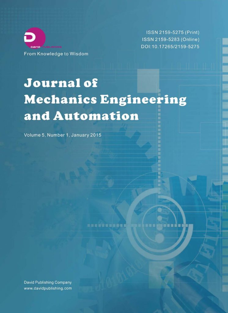 Journal of Mechanics Engineering and Automation
